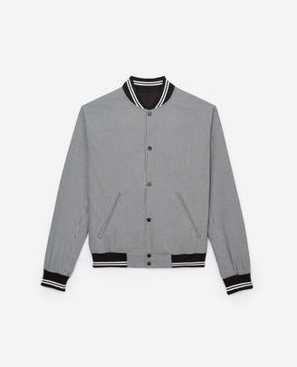 The Kooples Teddy blouse jacket with striped ribbing