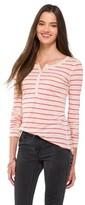 Mossimo Women's Long Sleeve Henley Shirt Juniors')