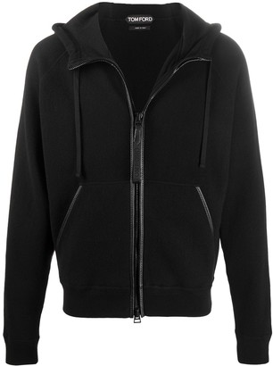 Tom Ford Drawstring Zip-Front Hoodie