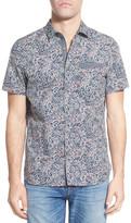 Jeremiah &Harris& Regular Fit Short Sleeve Paisley Sport Shirt