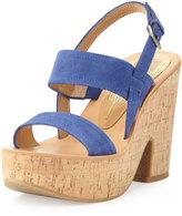 Dolce Vita Rita Suede Platform Sandal, Blue