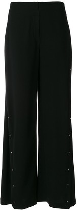 Esteban Cortazar Wide Leg Studded Trousers