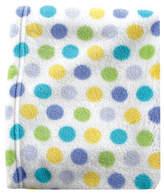 Luvable Friends 30'' x 36'' White & Yellow Polka Dot Stroller Blanket