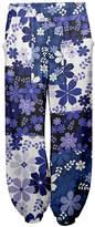 Lily Women's Casual Pants NVY - Navy & Lavender Floral Color-Block Harem Pants - Women & Plus