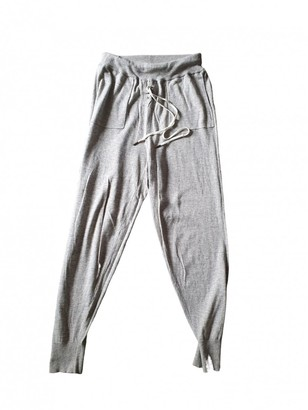 LOVE Stories Grey Cotton Trousers for Women