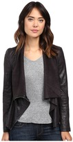Blank NYC Faux Suede Drape Jacket in Hot Line Bling