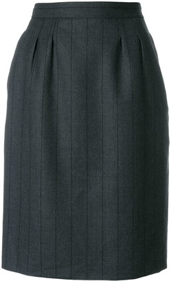 Saint Laurent Pre-Owned tonal stripe straight skirt