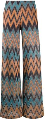 M Missoni Crochet-Knit Palazzo Pants