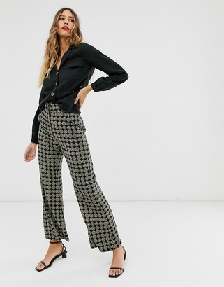 And other stories & flare pants in medalion print