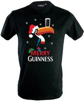 Guinness T-Shirt with Christmas Toucan & Merry Text, Colour