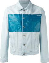 Kenzo metallic panel denim jacket - men - Cotton/Polyester - L