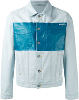 Kenzo metallic panel denim jacket - men - Cotton/Polyester - S
