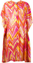 M Missoni zigzag print shift dress - women - Silk/Cotton/Acetate - S