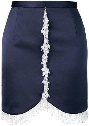 Christopher Kane Pearl Embellished Mini Skirt