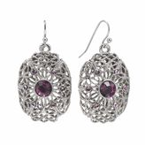 1928 Openwork Oval Drop Earrings