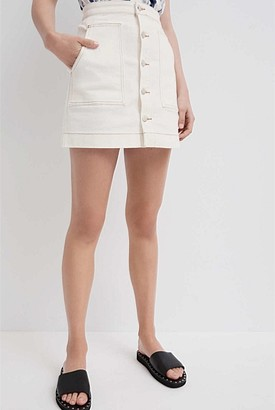 Witchery Button Front Skirt