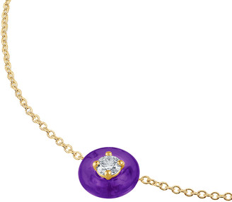 Vittorio B. Fine Jewels Belle Ciambelle 14K Gold Amethyst and Diamond Necklace