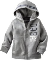 Osh Kosh Pocket Hoodie (Toddler/Kid) - Sports Gray-10