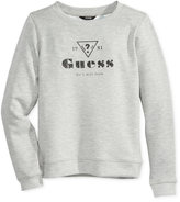 GUESS Graphic & Floral Reversible Sweater, Big Girls (7-16)