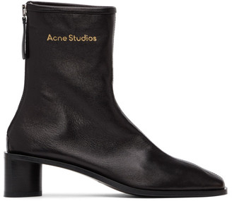 Acne Studios Black Branded Heeled Boots