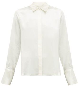 Nili Lotan Lleida Silk Satin Shirt - Womens - Ivory