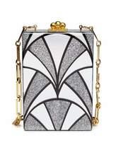 Edie Parker Carol Noveau Acrylic Clutch Bag, Silver