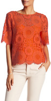Trina Turk Elbow Length Lace Blouse
