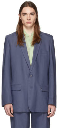 Tibi SSENSE Exclusive Blue Long Blazer