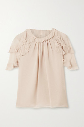 Jason Wu Collection - Ruffled Silk-chiffon Top - Blush