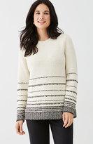 J. Jill Textured-Stripes Sweater
