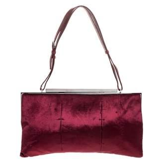 Gucci Burgundy Velvet Handbags