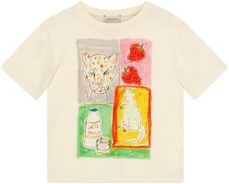 Gucci Children's Band print cotton T-shirt