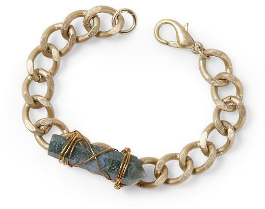 Vince Sabine Crystal Wrapped Chain Bracelet