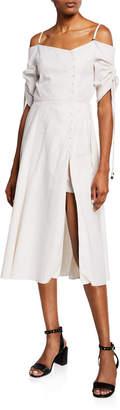 Jonathan Simkhai Off-Shoulder Slit-Front Midi Dress