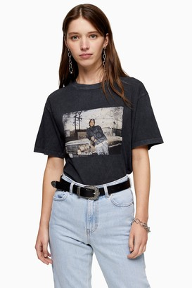 Topshop Charcoal Grey Ice Cube T-Shirt by And Finally