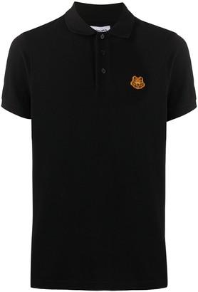 Kenzo Tiger patch polo shirt