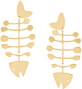 Tory Burch fishbone earrings