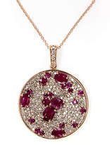 Effy 14K Rose Gold Diamond and Natural Ruby Pendant