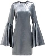 Ellery Dogma Flared-sleeve Velvet Mini Dress - Womens - Blue