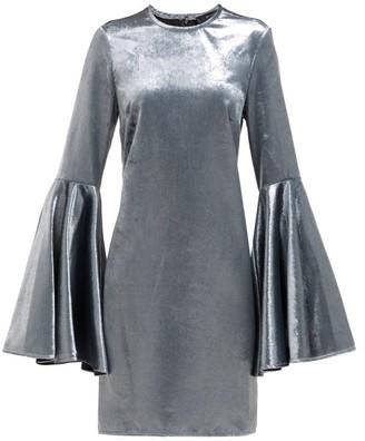 Ellery Dogma Flared-sleeve Velvet Mini Dress - Blue