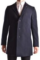 Manuel Ritz Men's Blue Polyester Coat.