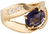 Ring Iolite & Diamond