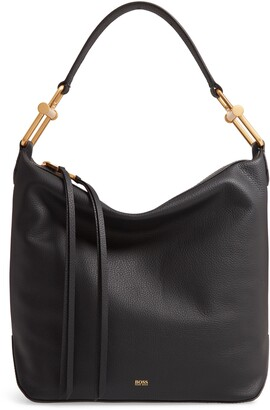 HUGO BOSS Small Kristin Leather Hobo