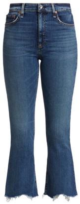 Rag & Bone Nina High-Rise Flared Ankle Jeans