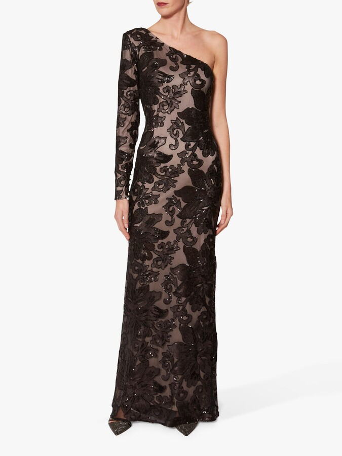 Thumbnail for your product : Gina Bacconi Contessa Sequin One Shoulder Maxi Dress