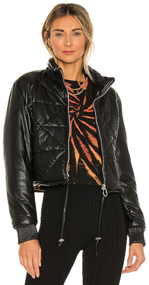 Blank NYC Faux Leather Quilted Puffer Jacket