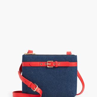 Talbots Denim Double Zip Crossbody Bag