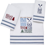 Avanti Lake Words Bath Towels