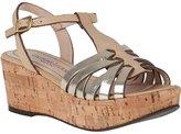 Gastone Lucioli 4051 Wedge Sandal Sand/Platinum Leather