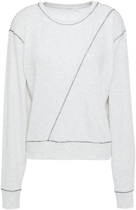 Rag & Bone Whipstitched Ribbed Jersey Top